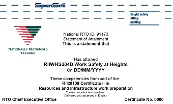 Working Safely at Heights WSAH