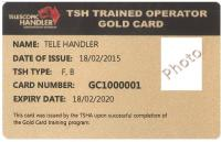 "TSHA ""Gold Card"" Course attachments & Jib Module"